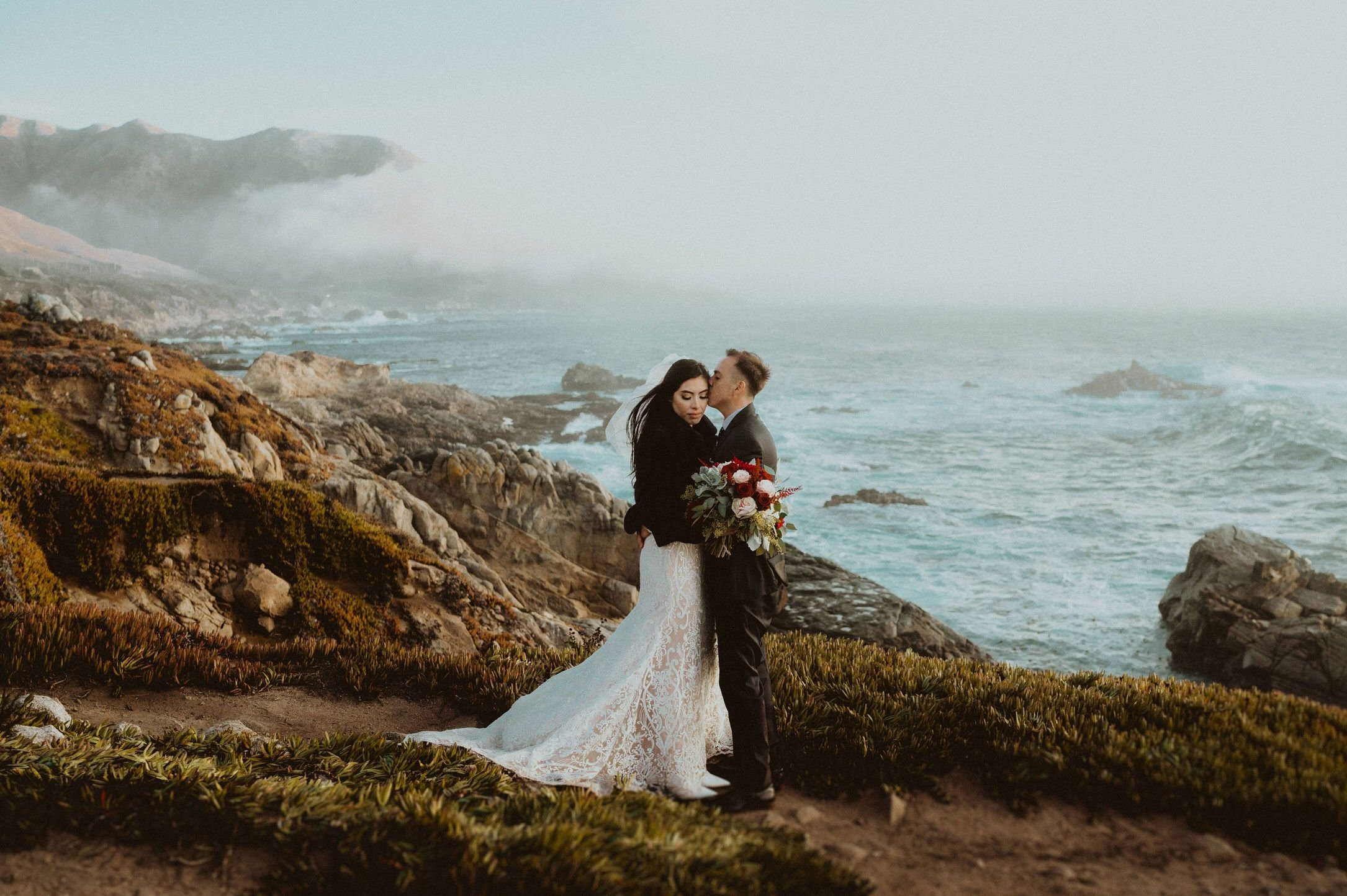 Big Sur California coast beach intimate elopement