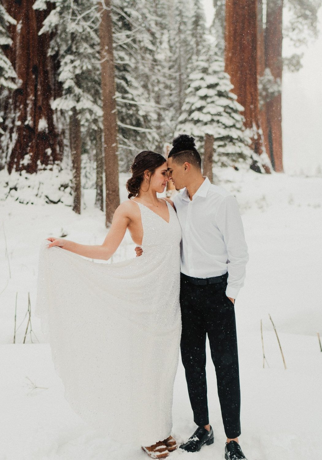 Sequoia National Park Winter Elopement | Hayley + Justin