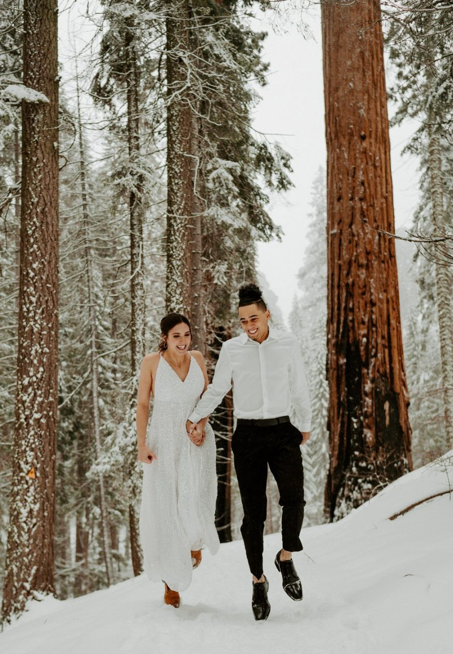 Sequoia National Park Winter Elopement