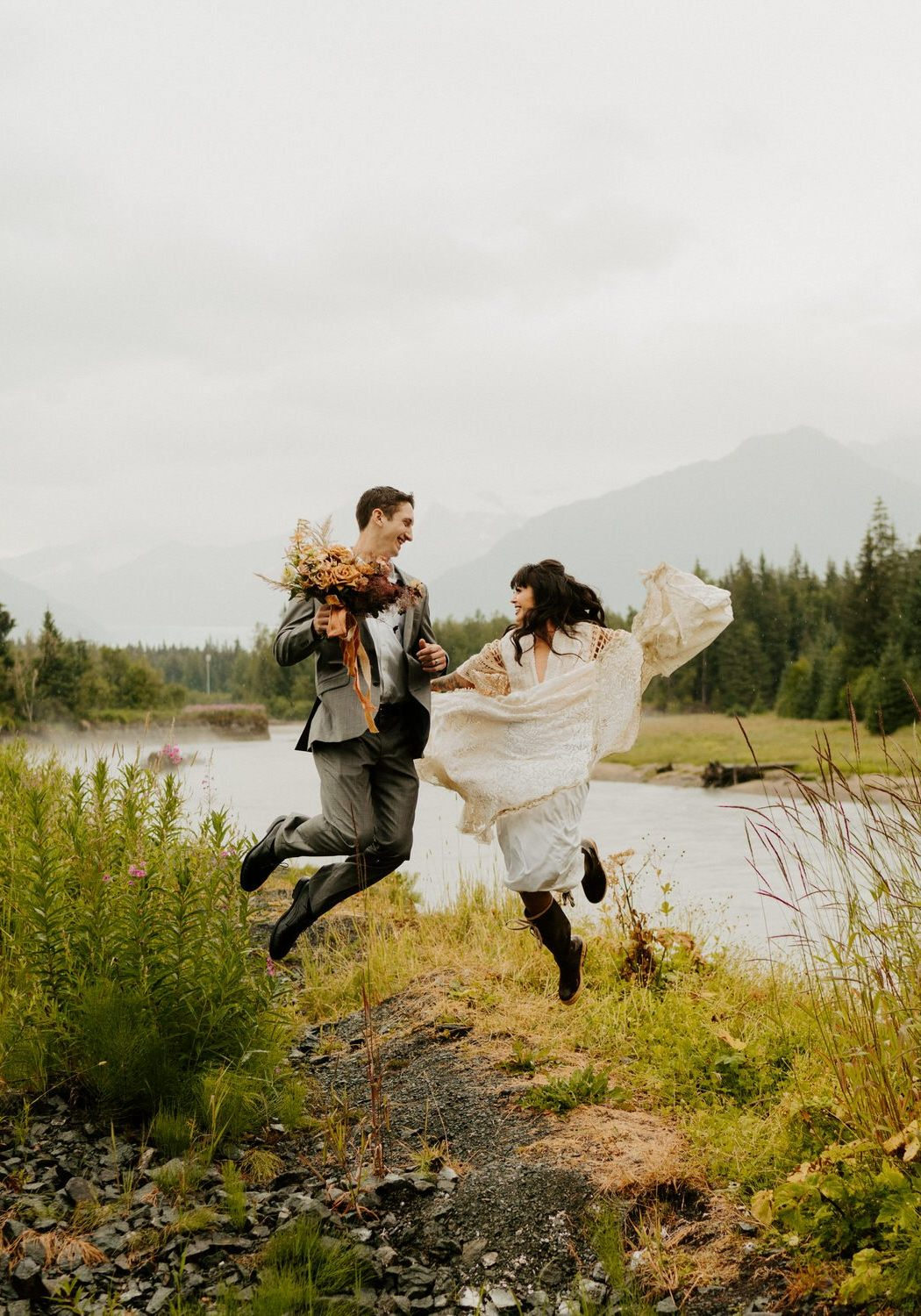 Lakeside Elopement in Alaska | Jannelle + Darell