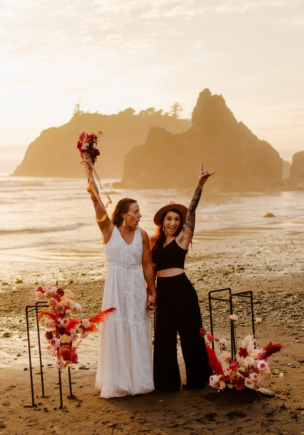 Olympic National Park Elopement Inspiration | Michaela and Adrianne